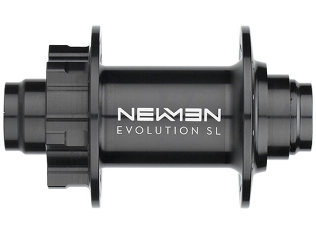 NEWMEN MTB SL Moyeu avant 20x110 mm J-Bend 6 boulons, black anodised/grey